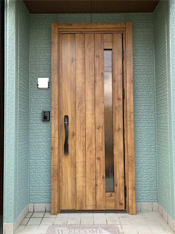鋼商なら玄関ドアのリフォームが1日で完了、電子キー