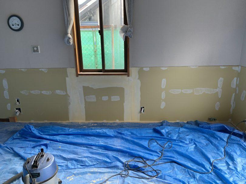 台風被害、床上浸水、断熱材の交換と内装リフォーム。長野鋼商