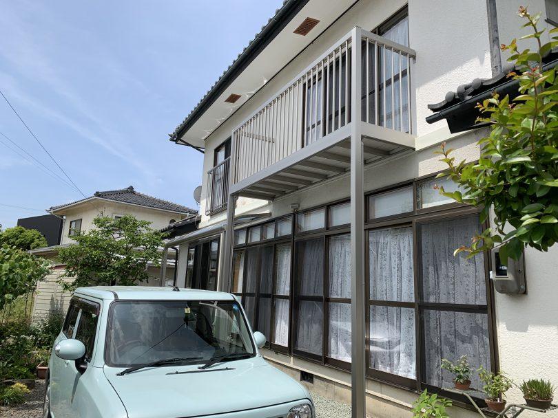 長野市だけじゃない須坂市でもバルコニーのリフォーム、鉄製からアルミに