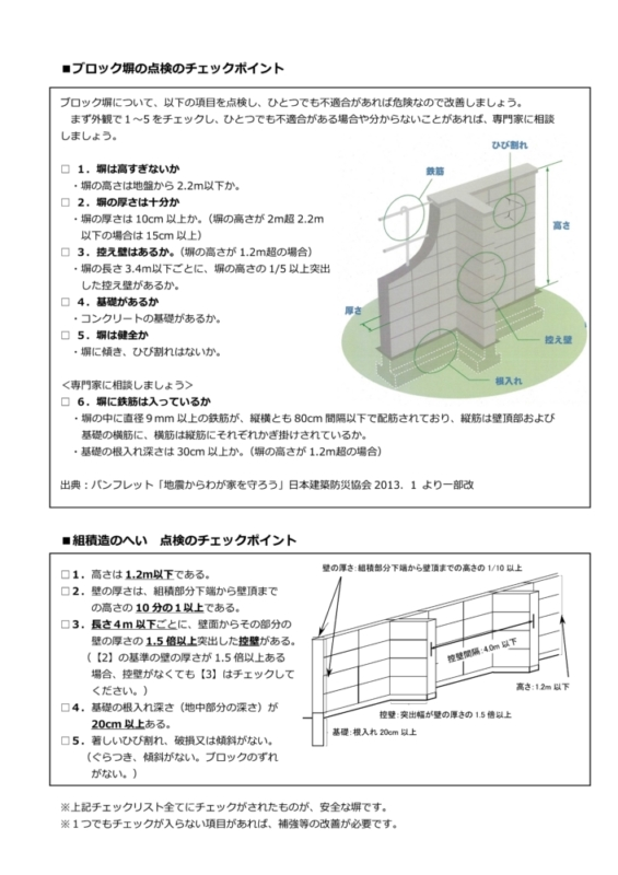 ブロック塀の改修工事を行っています、倒壊の危険のあるブロック塀を取り壊して新たにフェンス等を設置して安全な壁にしましょう。